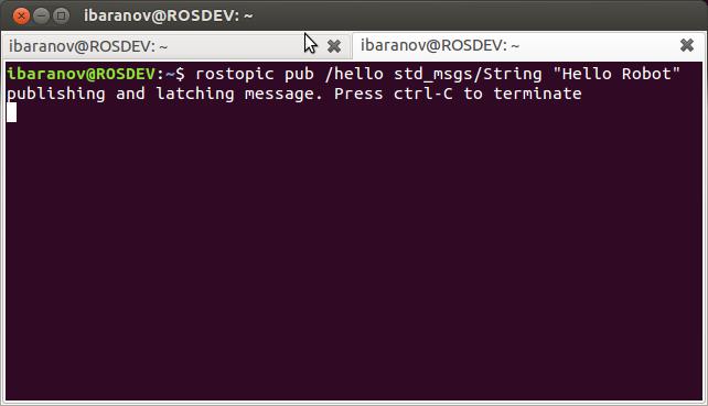 Practical Example — ROS Tutorials 0 5 1 documentation