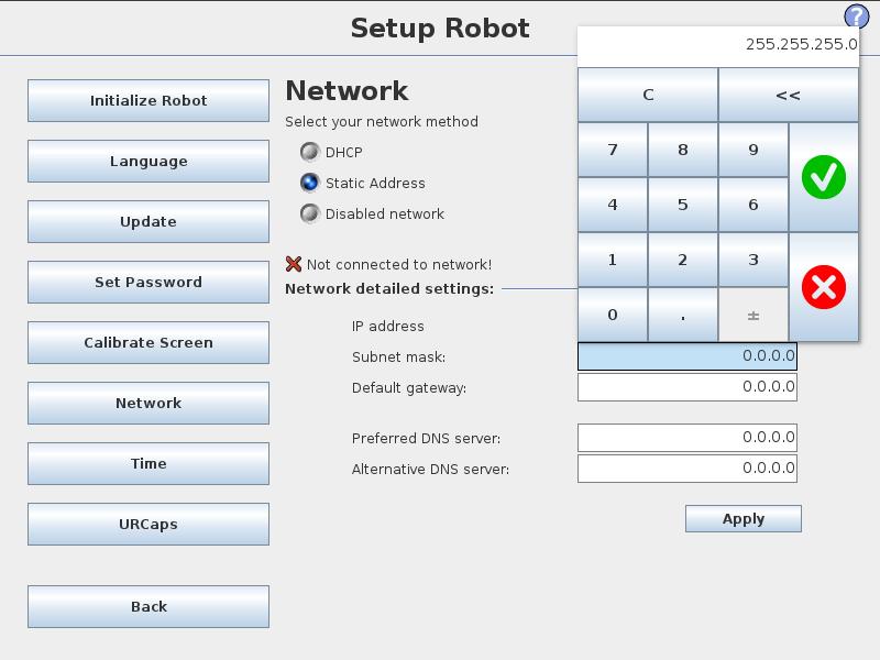 UR Controller Setup — UR Setup Tutorial 0 0 0 documentation