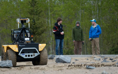 Grizzly on the Mars Emulation Terrain at NCFRN